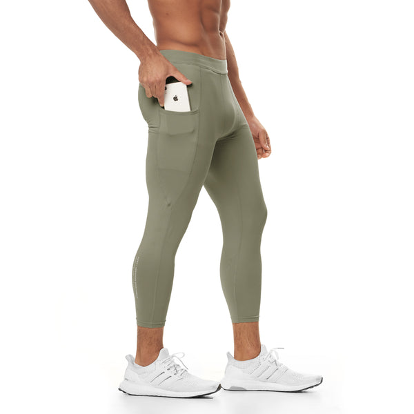 0267. Reflexx® 3/4 Side Pocket Performance Legging - Sage