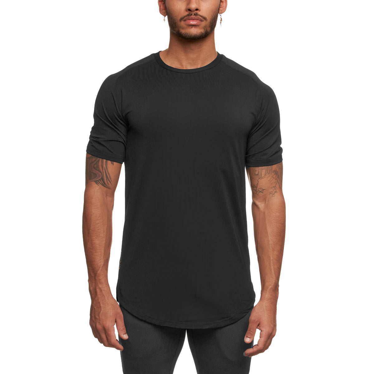 0164. Silver-Lite® Established Tee - Black