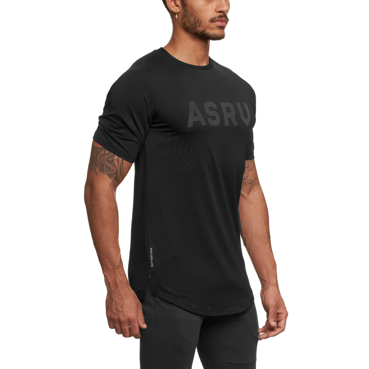 "0164. Silver-Lite® Established ""ASRV"" Tee - Black"