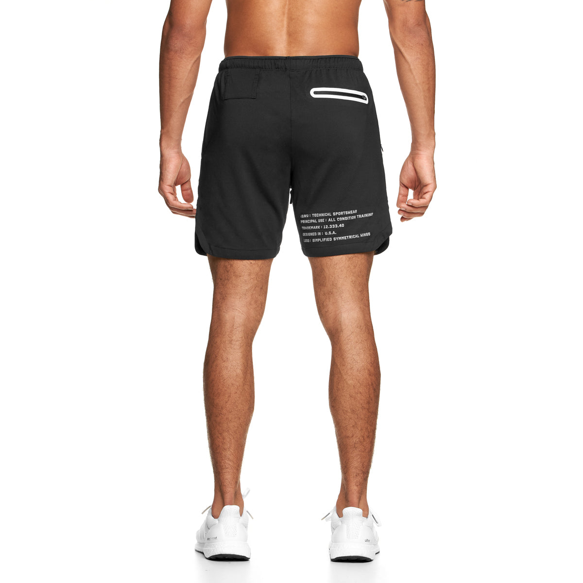 "0170. Silver-Lite® 7"" Linerless Short - Black"