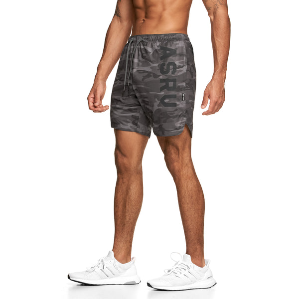 "0170. Silver-Lite® 7"" Linerless Short - Black Camo"