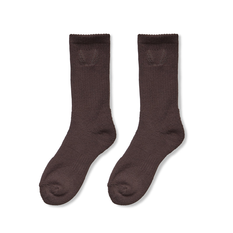 Essential Crew Socks (3 Pair) - Dark Earth
