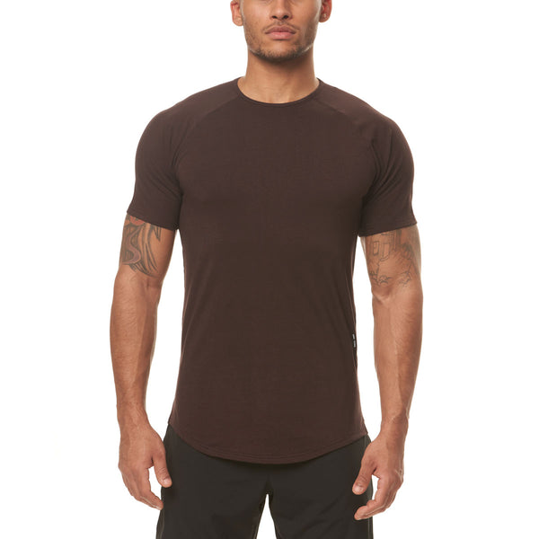 0395. Supima® Established Tee - Dark Earth