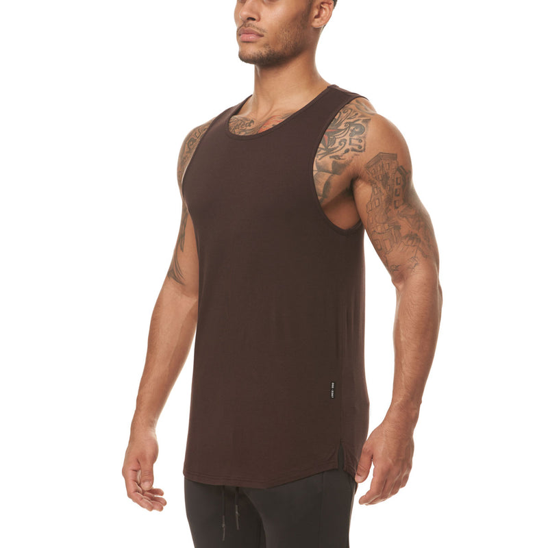 0397. Supima® Tank Top - Dark Earth