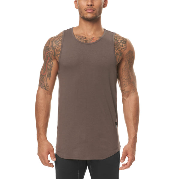 0397. Supima® Tank Top - Deep Taupe