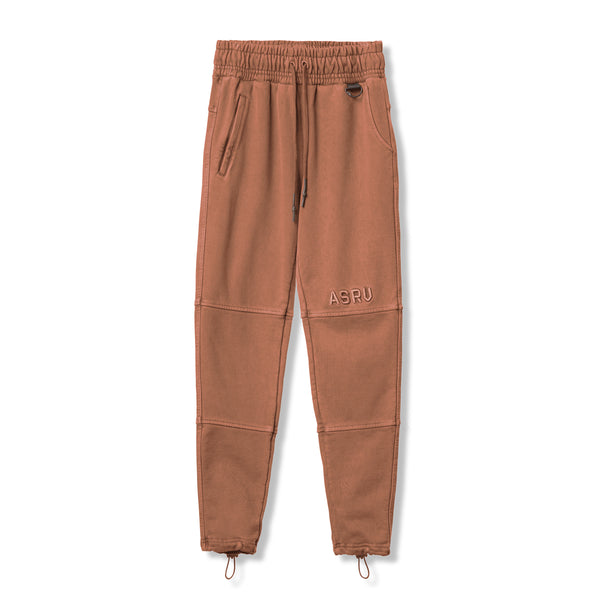 0266. Garment-Dyed French Terry Relaxed Jogger - Faded Red Clay