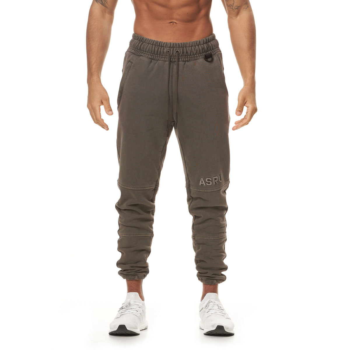 0266. Garment-Dyed French Terry Relaxed Jogger - Faded Taupe