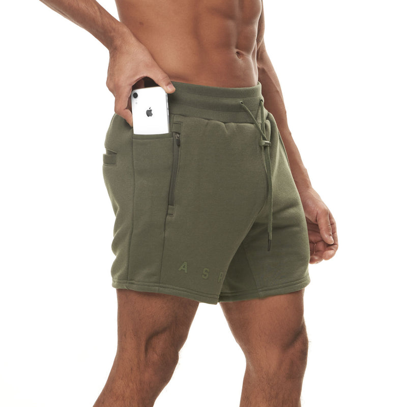 0398. French Terry Sweat Shorts - Olive