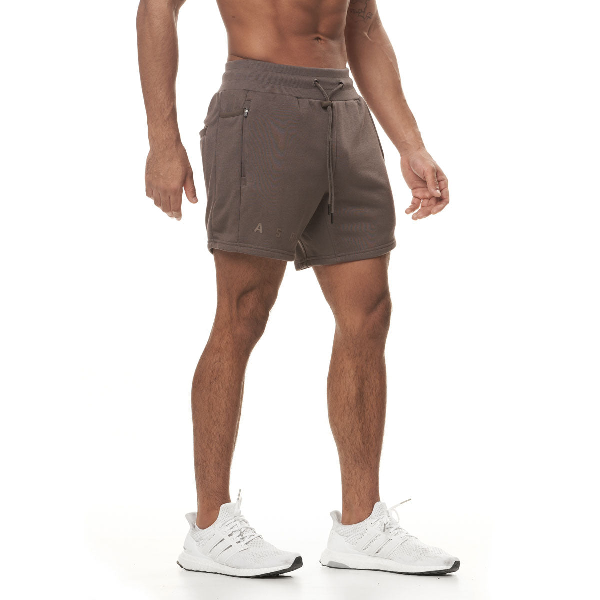 0398. French Terry Sweat Shorts - Deep Taupe