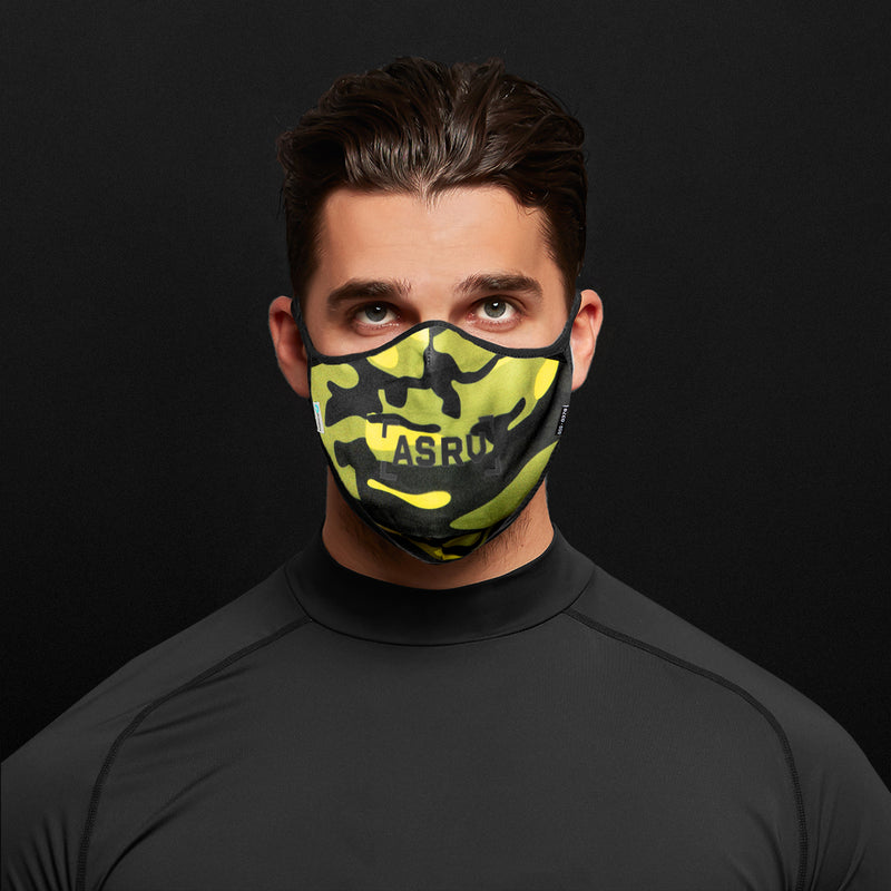 0383. ViralOff® Form-Fitting Face Mask (2 Pack with Bag) - Volt Camo