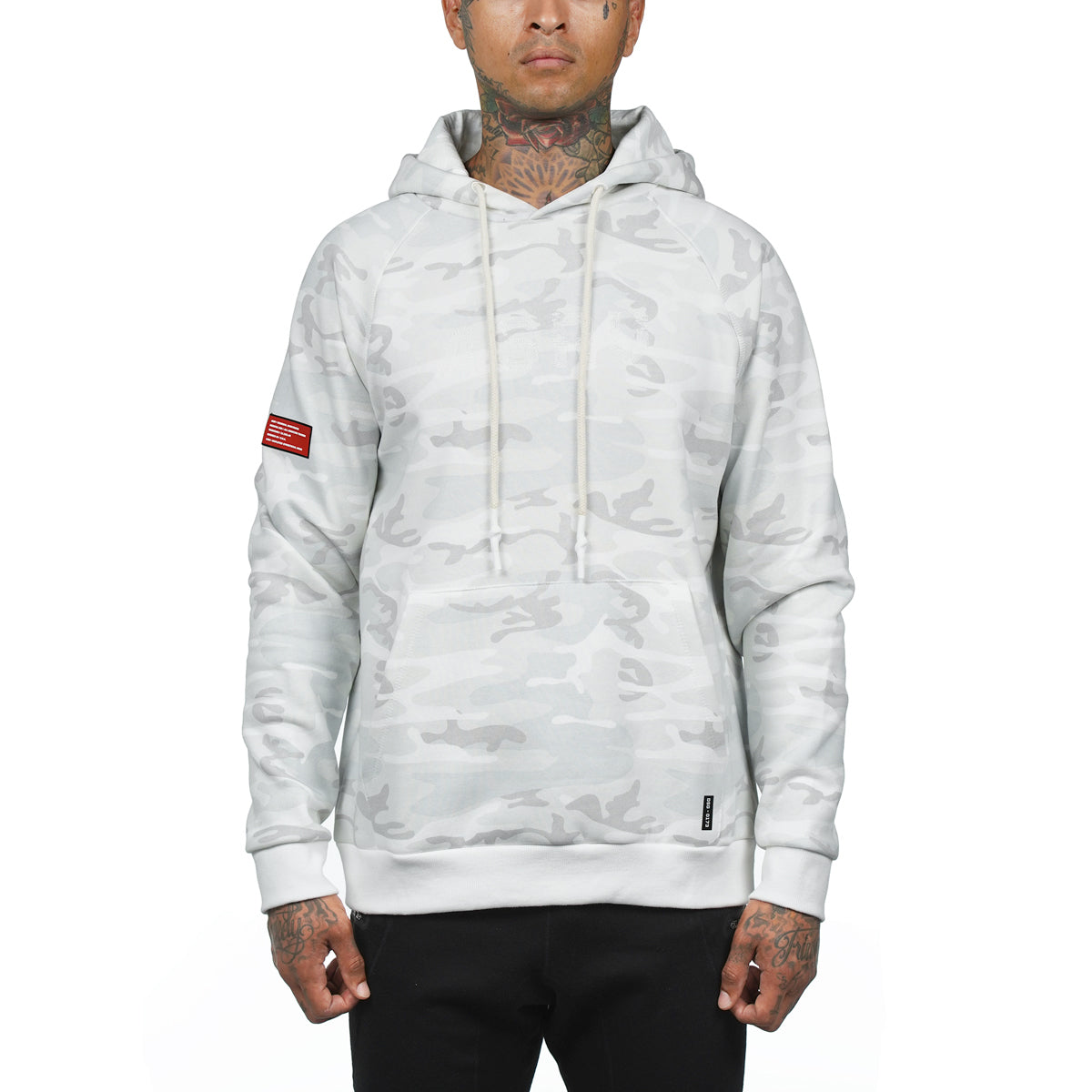 Essential Fleece Hoodie - White Camo