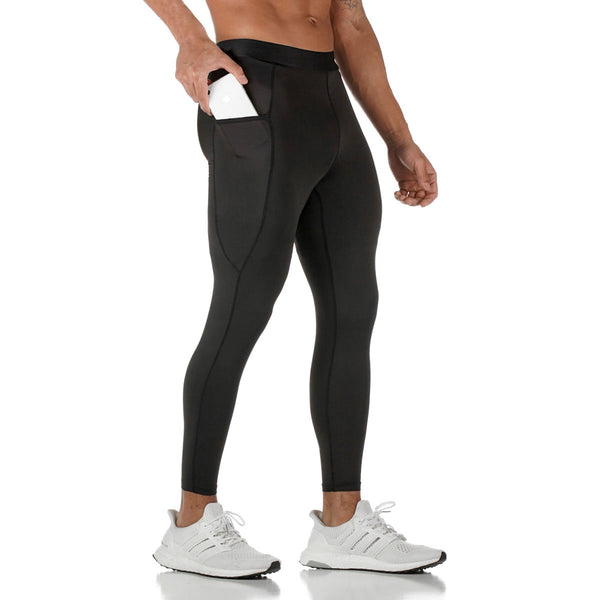 0267. SilverPlus® 3/4 Side Pocket Baselayer Legging - Black