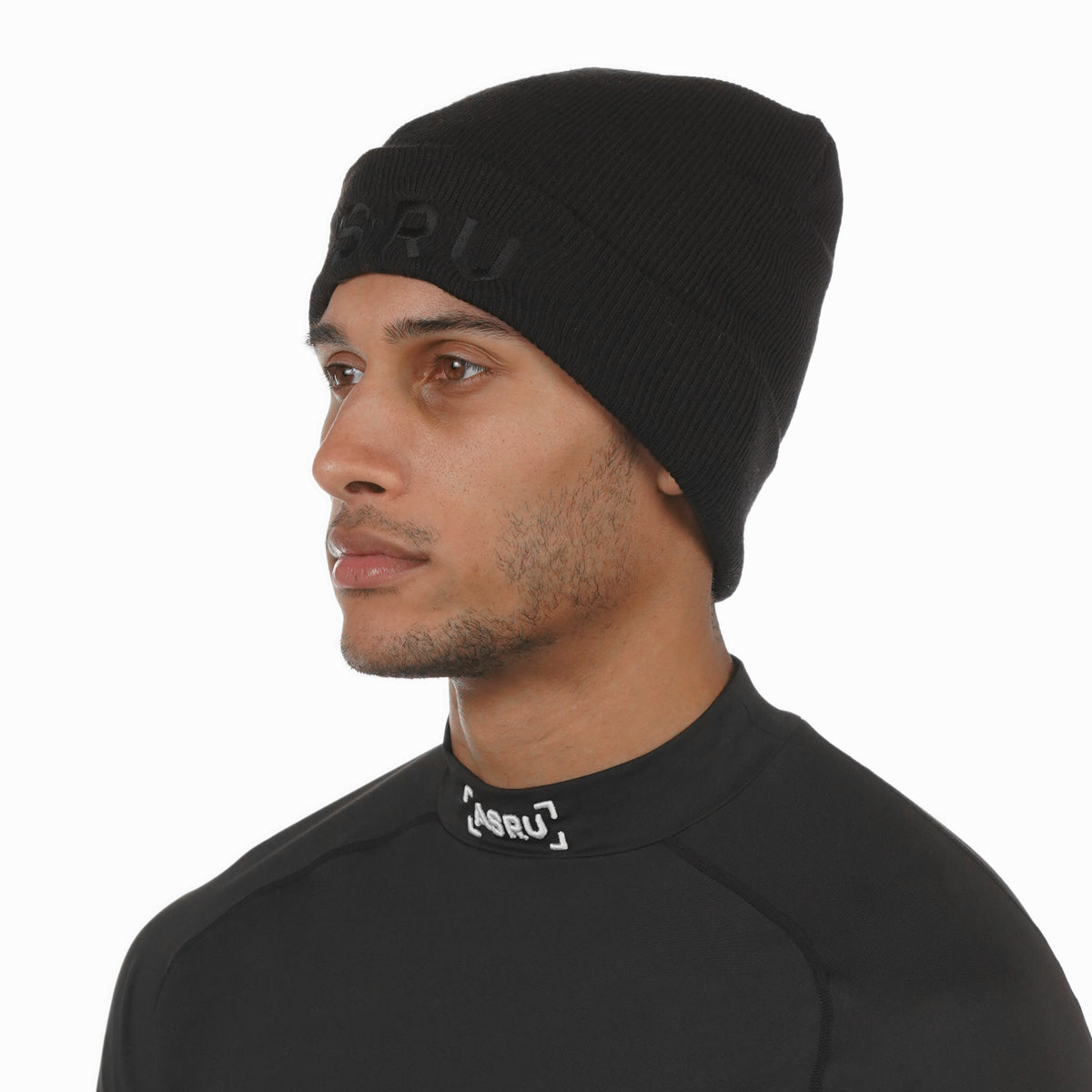 Thermal Wool Wings Logo Beanie - Black/Black