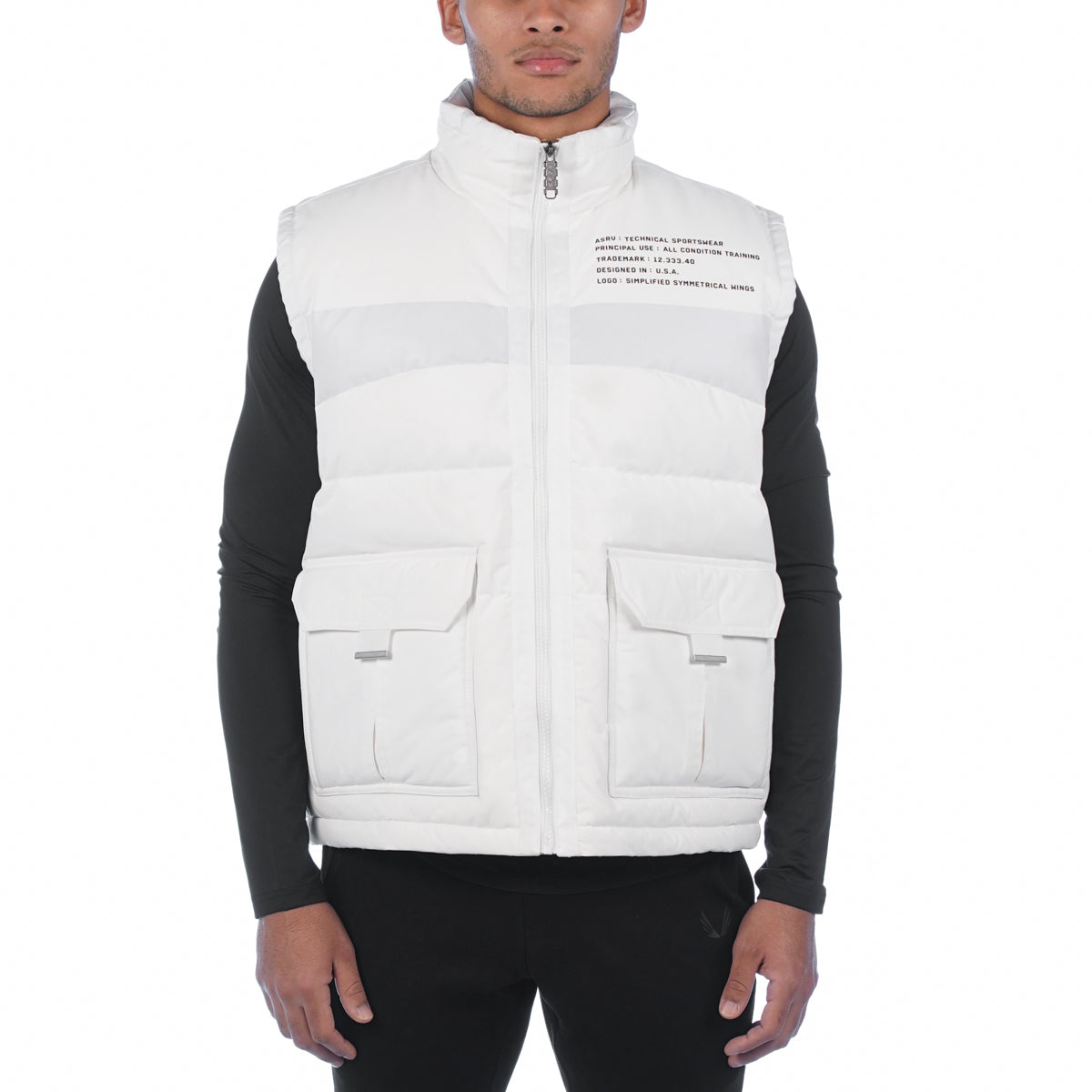 0263. Hipora® Waterproof Down Vest - White