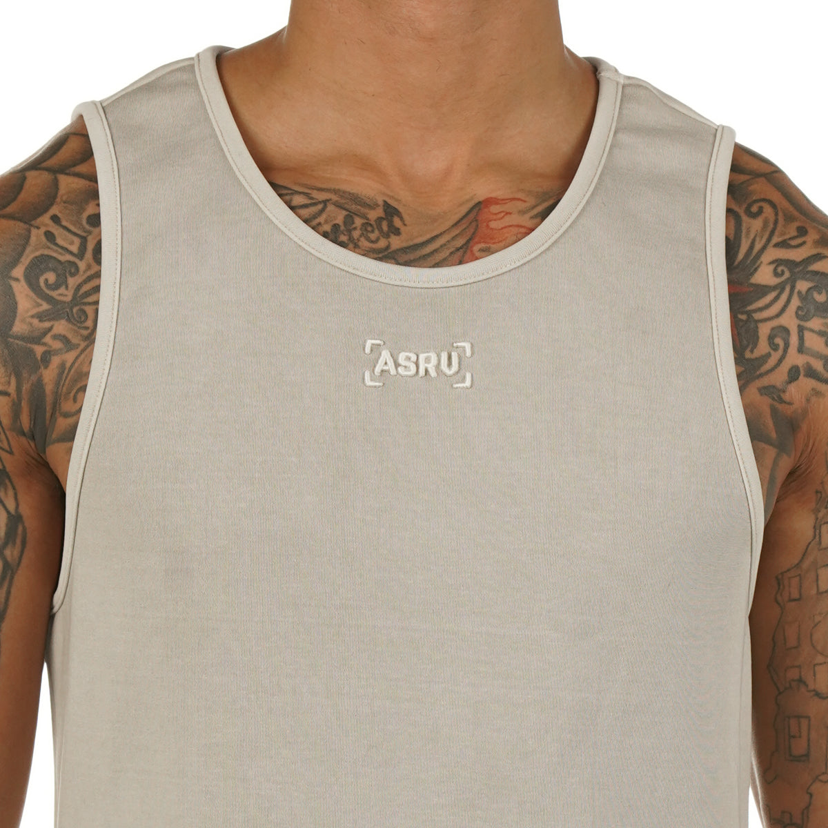 0272. SilverPlus® Garment-Dyed Tank - Faded Off-White
