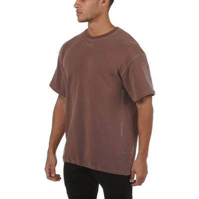 0240. SilverPlus® Technical Cinch Tee - Washed Merlot