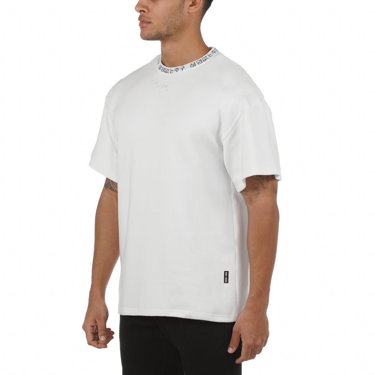 0252. SilverPlus® Technical Cinch Tee - White