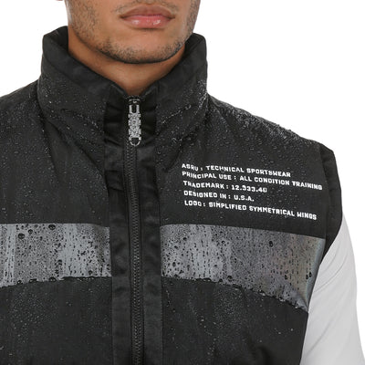 0263. Hipora® Waterproof Down Vest - Black