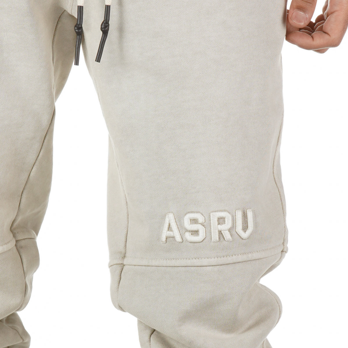 0266. Garment-Dyed French Terry Relaxed Jogger - Faded Off-White