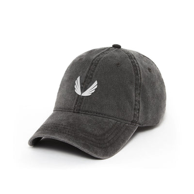 Garment-Dyed Wings Logo Hat - Faded Grey/White