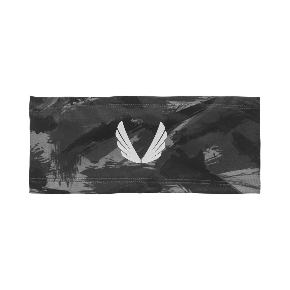 0249. Silver-Lite® Wings Logo Headband - Black Brushed Camo