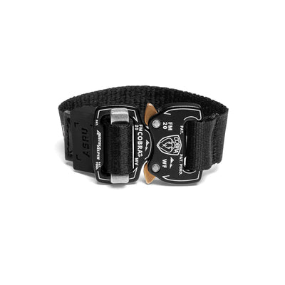 0277. COBRA® Buckle Nylon Bracelet - Black