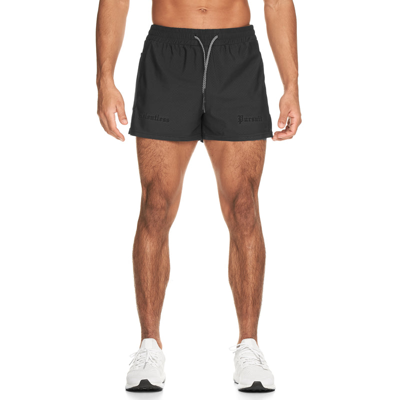 "0285. Laser-Lite™ 3"" Performance Short - Black/Black"
