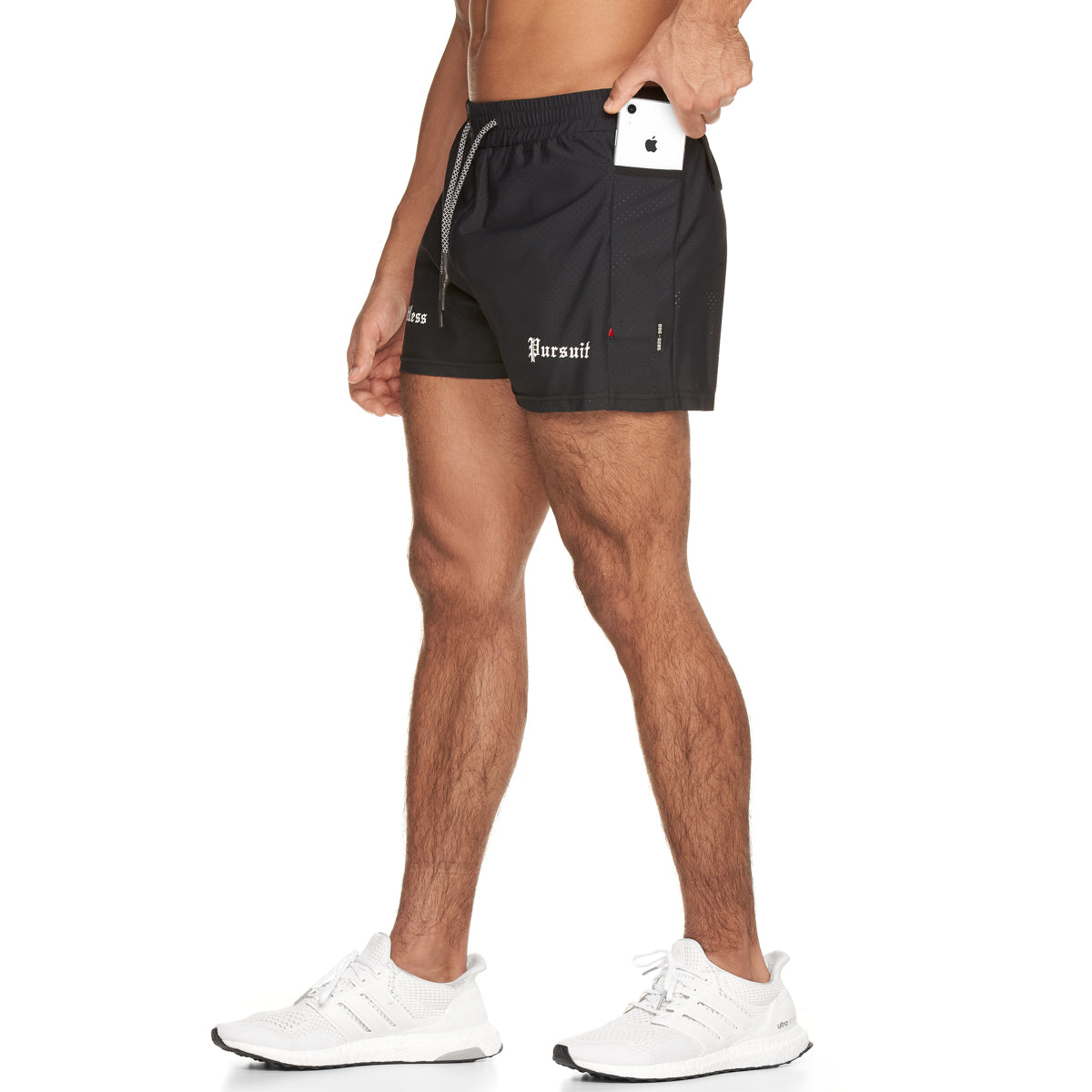 "0285. Laser-Lite™ 3"" Performance Short - Black/White"