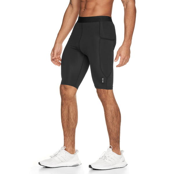 0286. SilverPlus® Side Pocket Baselayer Short - Black