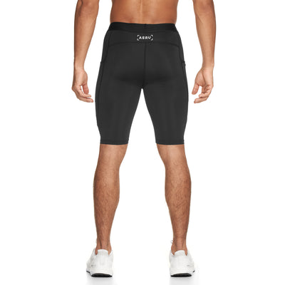 0286. Creora® Side Pocket Compression Short - Black