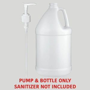 Empty 1-Gallon Bottle with Dispenser Pump - pack of 100