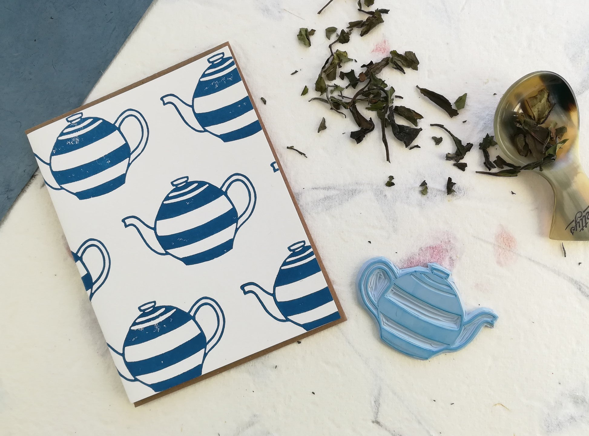 Cornish Teapots Card - Winter Pickle Press