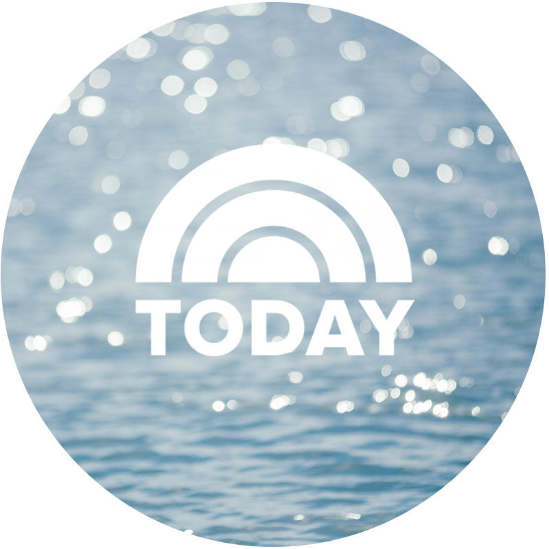 The Today Show logo with an ocean background