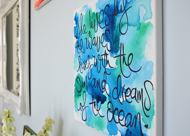 diy watercolor wall art pura vida bracelets