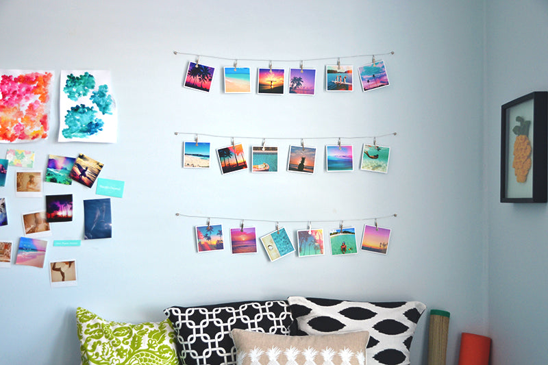 Wall Decoration Photos : Diy instagram hanging wall art pura vida bracelets