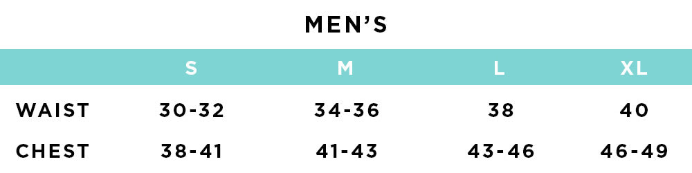 Size & Fit - Mens