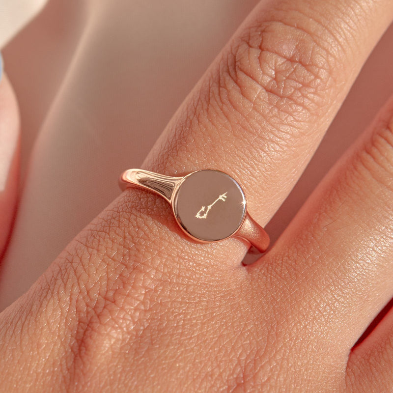 Engravable Signet Ring 9