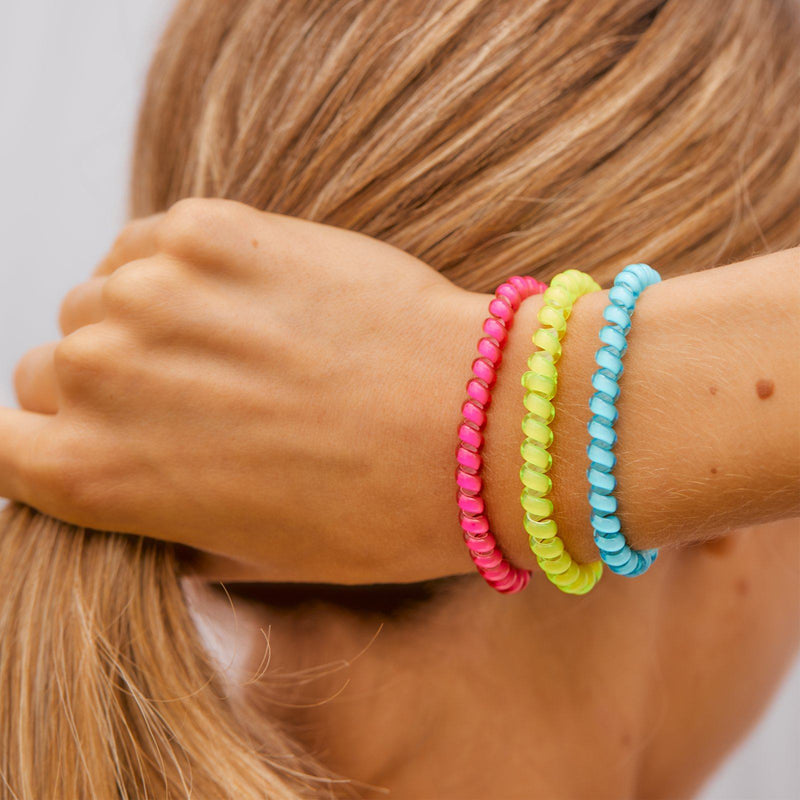 Neon Coil Scrunchies (Set of 3) 2