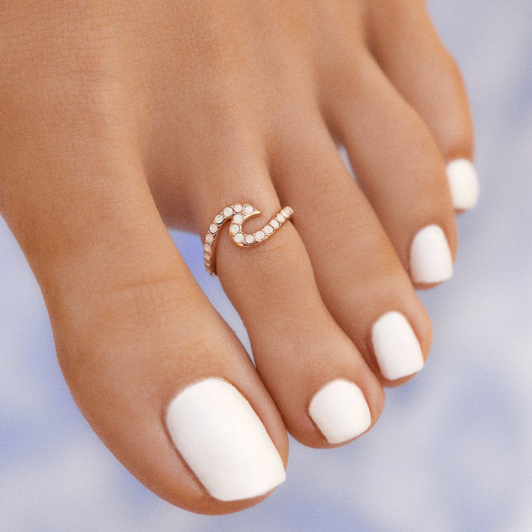 Stone Wave Toe Ring