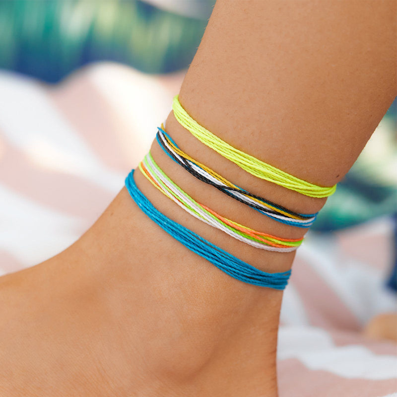 Neon Yellow Anklet 2