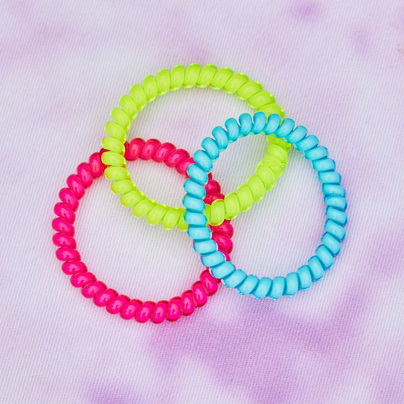 Neon Coil Scrunchies (Set of 3) 3