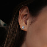 Opal Saturn Stud Earrings Image 5