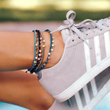 Mini Braided Coin Anklet Image 6