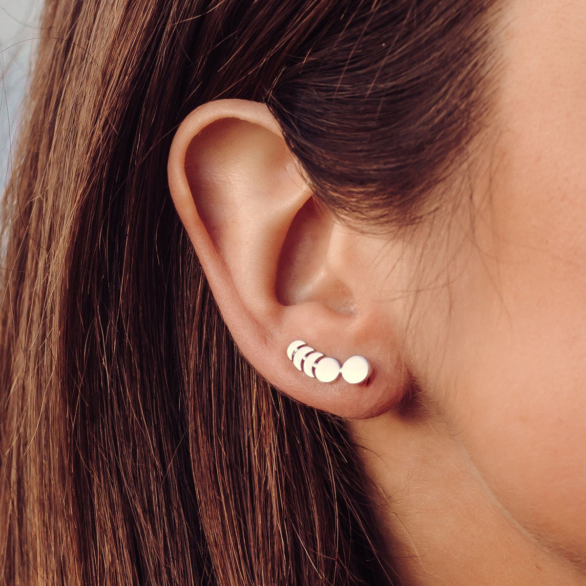 Moon Phases Ear Climber 4