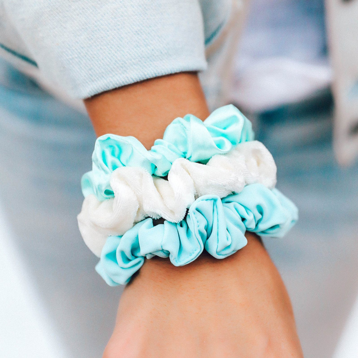 Wave Scrunchies (Set of 3) 5