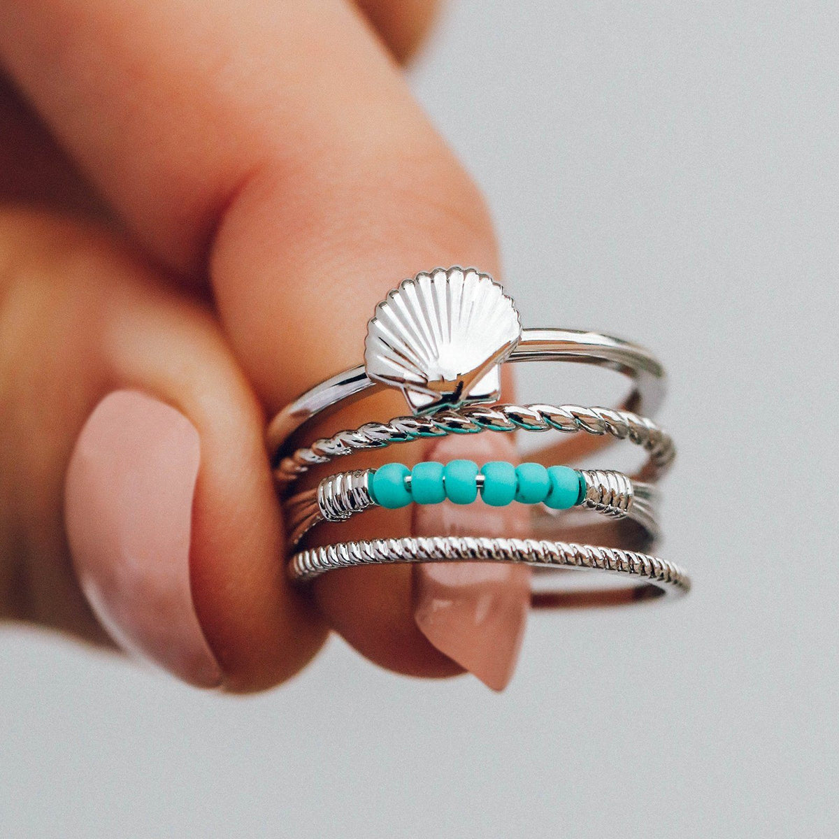 Shell Ring Stack 4