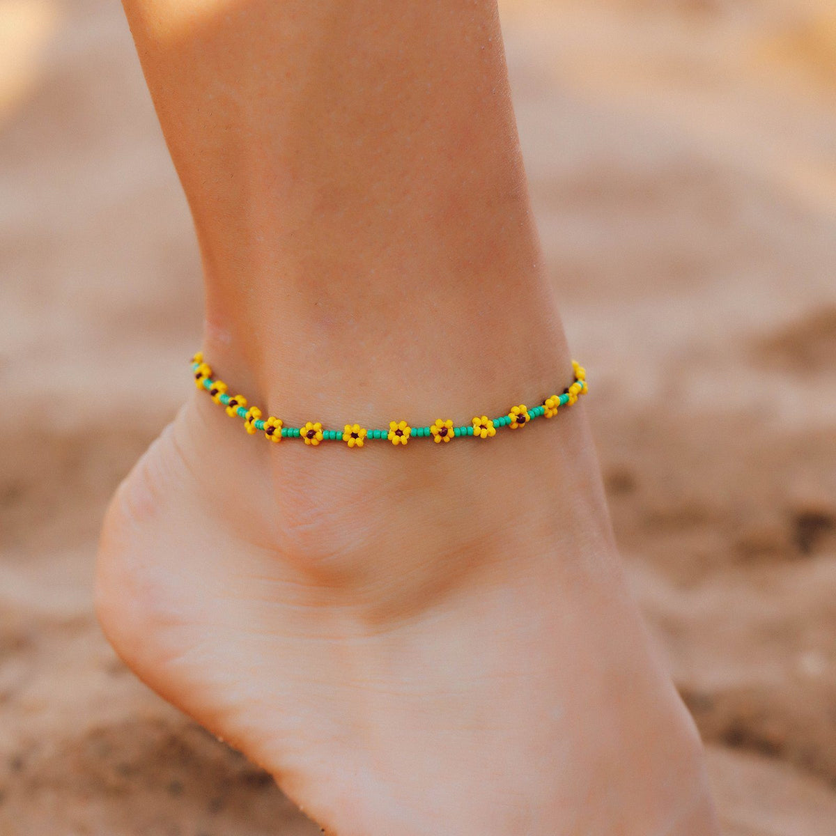 Sunflower Seed Bead Anklet 2