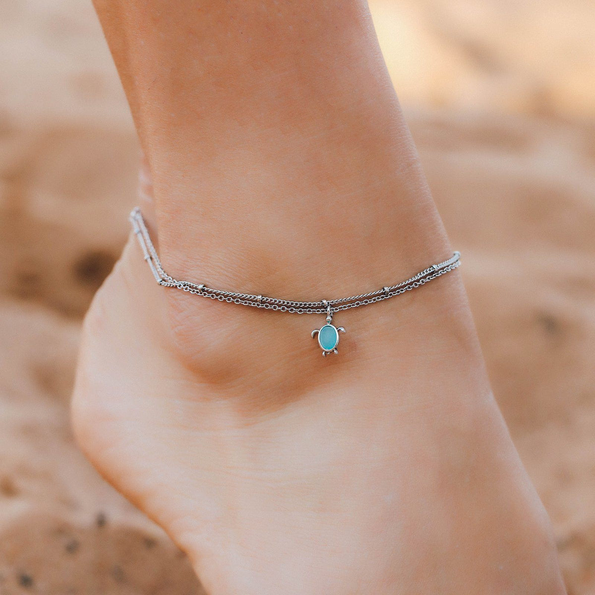 Double Chain Turtle Anklet 2