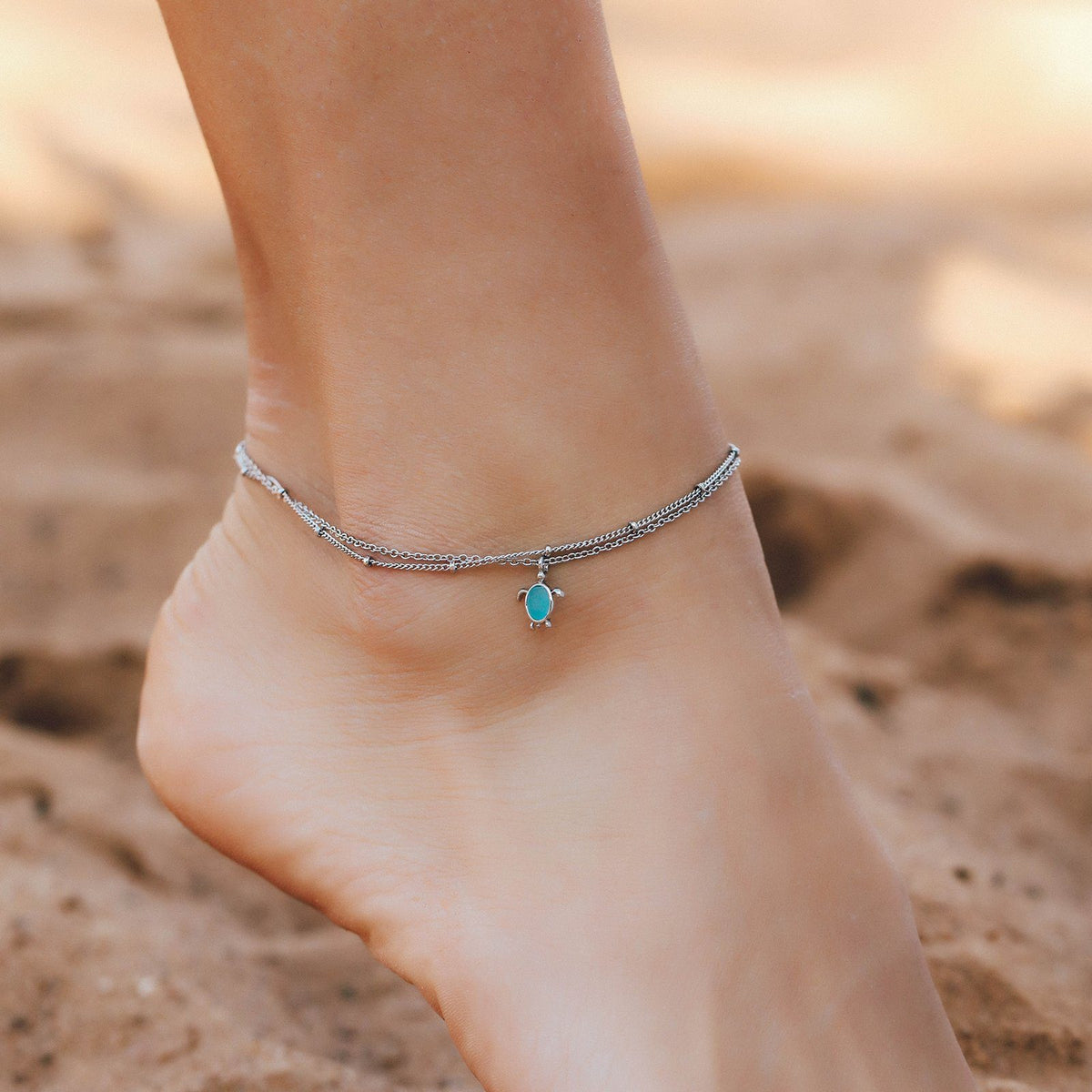 Double Chain Turtle Anklet 3