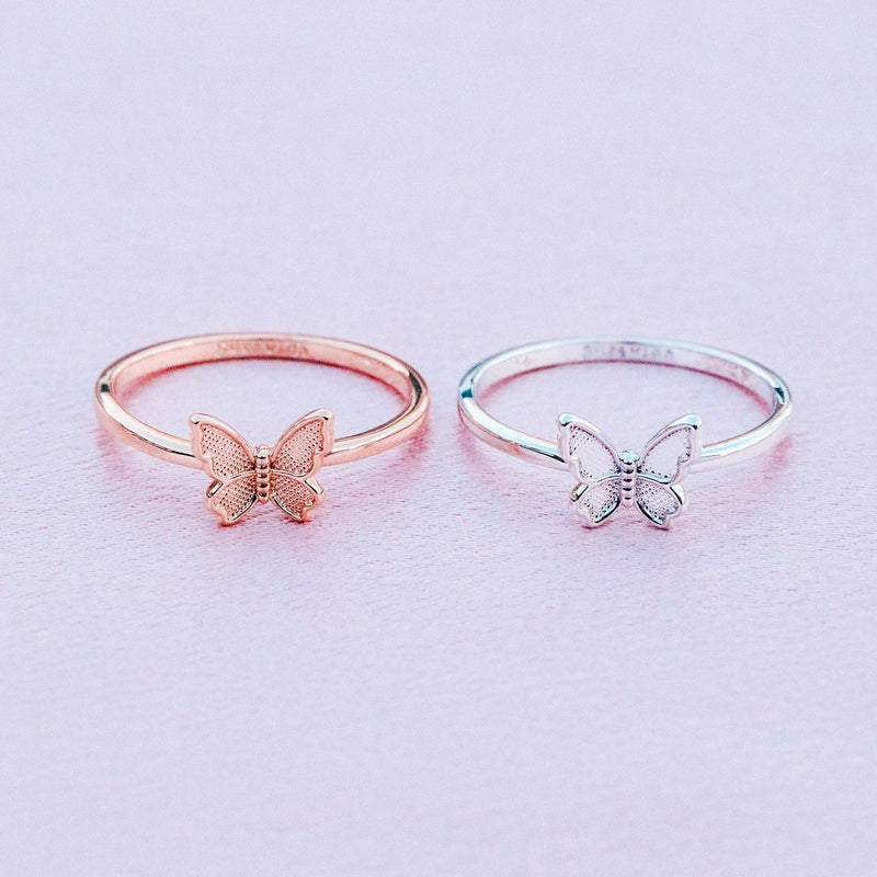 Butterfly In Flight Ring 7